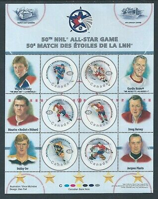 NHL All Stars - 1 #1838 Full Pane MNH ** Free Shipping **