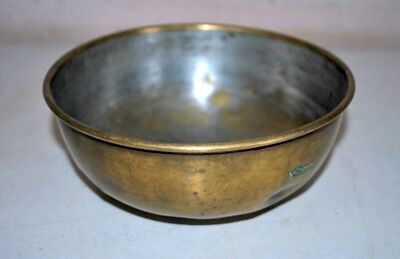 Soup Bowl 1900's Vintage Brass Hand Crafted Indian Kicthen