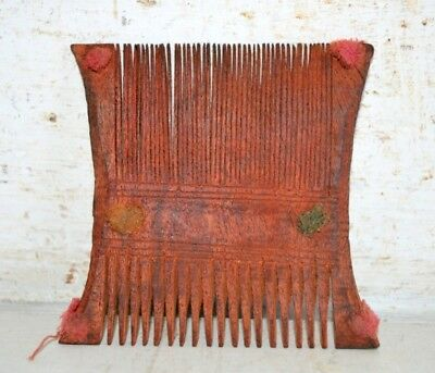 Comb Antique Wooden Primitive Old Wood Hand Made