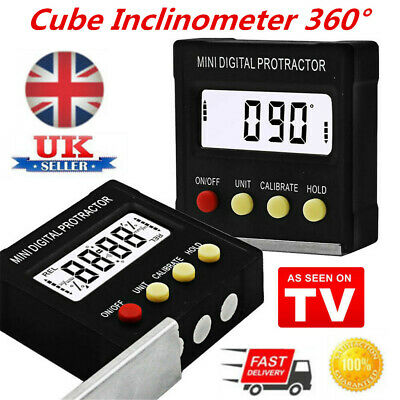 UK LCD Digital Inclinometer Protractor Bevel Angle Gauge Magnet Base Gracious ZP