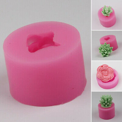 1pc 3D Flower Candle Mold DIY Silicone Vase Soap Mould Craft For Molding Tool