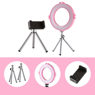 NEW LED Ring Light Dimmable Photography Studio Video Lamp&2 Tripod&Phone Clamp