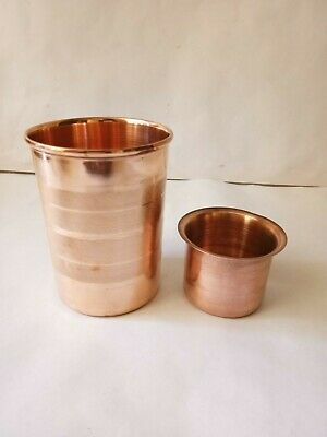 Copper Glass Pure Cup 300ml Tumbler Drinking Water Ayurveda Yoga Free Ship