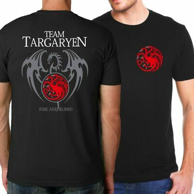 Game of Thrones Stark Targaryen song of Fire and ice T Shirt Men 2019  season 8