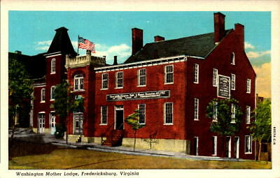 Postcard Washington Mother Lodge Fredericksburg Virginia Unused