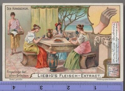 Rich Greek Women Wearing Gloves For Eating c1903 Trade Ad Card g
