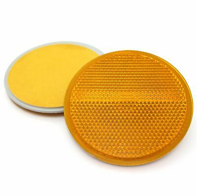 2x 70mm Round Amber / Orange Reflectors- Self Adhesive