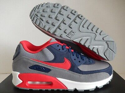 NIKE AIR MAX 90 Current Id Navy Blue Atomic Red Sz 11