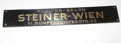 Original Antique Shield Klavierbauer Piano Steiner Vienna Vi Klavier-Salon~1880