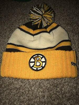 5a683fa52bc0b Boston Bruins 2010 Nhl Winter Classic Reebok Cuffed Pom Knit Hat Toque