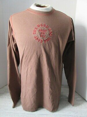 2005 Great Big Sea The Hard and The Easy L.Sleeve Brown Embroidered Shirt Size M