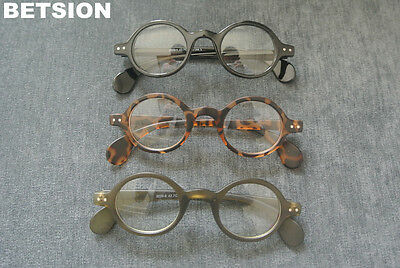 f71f1a6e0ac9 Vintage Small Round Eyeglass Frames Glasses Full Rim Spectacles Eyewear Rx  able