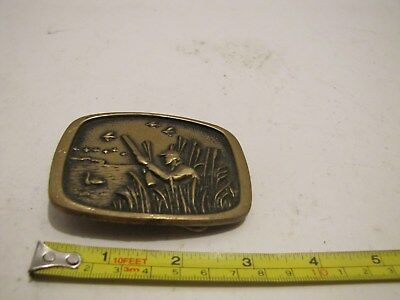 1978 Bts Hunting Birds Theme Solid Brass Usa Belt Buckle