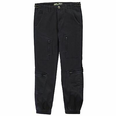 No Fear Kids Boys Navy Boiler Point Jeans Junior Chino Pants Trousers Bottoms