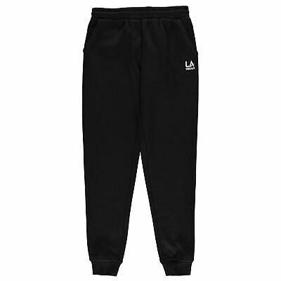 LA Gear Kids Girls Closed Hem Jog Pant Fleece Jogging Bottoms Trousers Pants