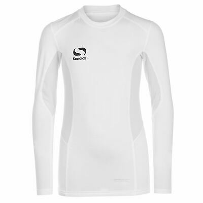 Sondico Kids Boys Long Sleeved Core Base Layer Junior Baselayer Top Compression