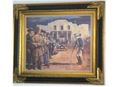 "Texas The Alamo Print Artist R Hedgecock ""The Decision"" Beautiful Historic Print"