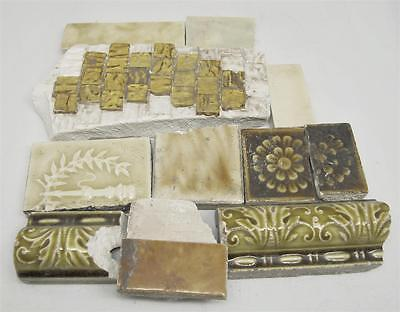 Set of Assorted Yellow Broken Decorative Ceramic Tiles