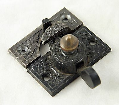 Ornate Window Lock With Brass Accent