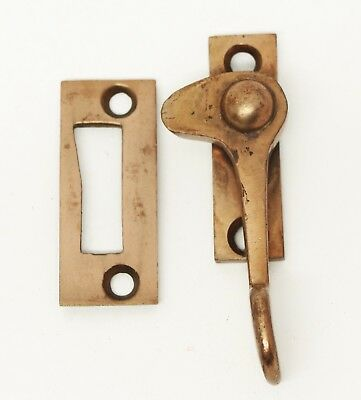 Antique Window Lock with a Copper Wash