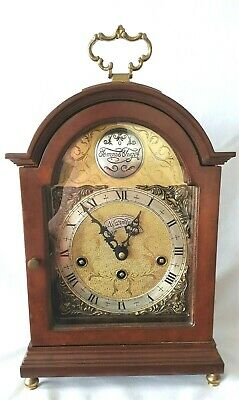 Warmink Mantel Clock Westminster Quarter Strike Silent Option 34cm Vintage 1973