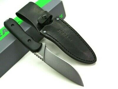 Schrade SCHF42 Black Full Tang Frontier Straight Fixed Survival Knife + Sheath