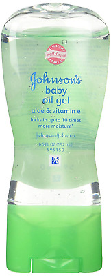 Johnson's Baby Gel Oil with Aloe & Vitamin E, 6.5 Ounces