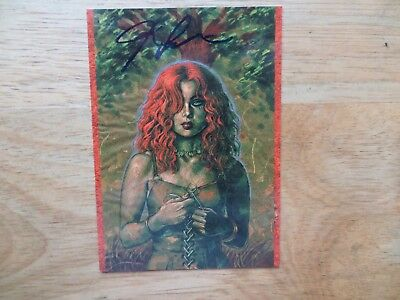 2002 Definitive Dawn Card # 38 Dryad Signed Joe Linsner, With Poa