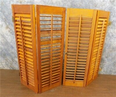 Lot Wood Shutters Victorian Window Louver Plantation Door Mission Vintage a32