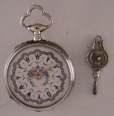 UNIQUE 1860 Antique Oriental Award French Silver Pocket Watch Serviced