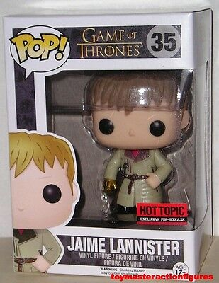 FUNKO POP GAME OF THRONES JAIME LANNISTER #35 GOLD GLOVE HT PRE RELEASE In Stock