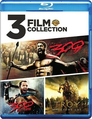 300 + 300 RISE OF AN EMPIRE + TROY DIRECTOR'S CUT New Blu-ray 3 Film Collection
