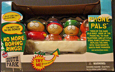 1998 Comedy Central Fun-4-All SOUTH PARK PHONE PALS Phone Ringer -NEW IN PACKAGE