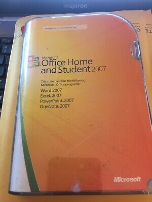 MICROSOFT OFFICE HOME and Student in Case 2007 & Product Key