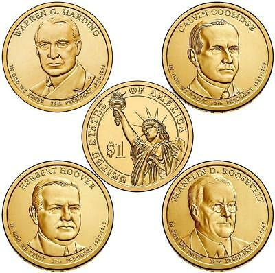 2014 D Presidential One Dollar Coins U.S. Mint Rolls Money Collectibles Coin