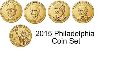 2015 P&D Presidential One Dollars Coins 8 Coins President U.S. Mint Rolls Money