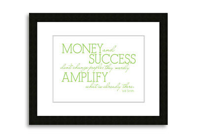 Will Smith Money And Success Lime Green Lounge Prints 09727 Framed Print
