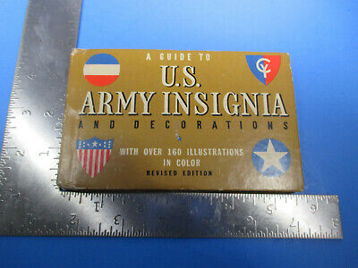 Vintage Guide US Army Insignia Decorations 160 Illustrations Buy War Bonds S8714