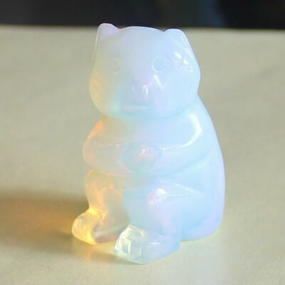 h43271  1.5''  Hand carved white opalite monkey figurine animal carving