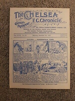 RARE 1922/23  DIVISION 1 FOOTBALL PROGRAMME CHELSEA v HUDDERSFIELD TOWN