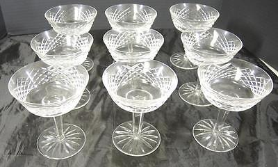 Nine Waterford Champagnes or Sherbets * Alana Pattern * Old Trademark