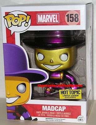 FUNKO POP Marvel MYSTERY DEADPOOL MADCAP #158 METALLIC CHASE HOT TOPIC IN STOCK