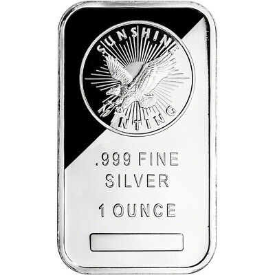 1 oz. Silver Bar - Sunshine Minting - .999 Fine - Sealed