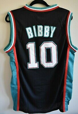 f1b1d49eac3 NWT MIKE BIBBY  10 Vancouver Grizzlies Throwback Basketball Jersey ...