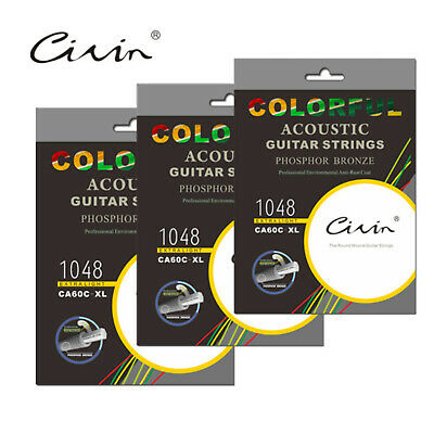 CA60C-XL1048COLOURFUL Guitar Metal String 6 Strings Folk colored strings