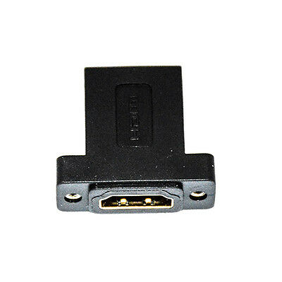 HDMI 19 Pin Female to Female Panel Mount Extension Coupler Adapter Connector New