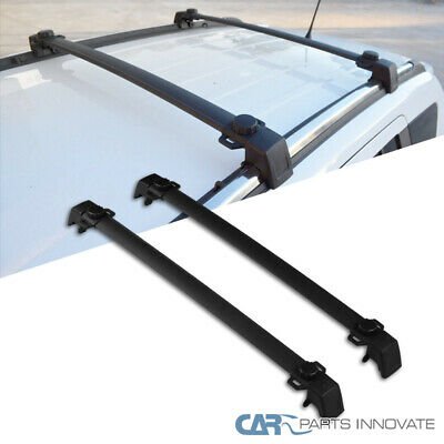 11-16 Jeep Compass Black Aluminum Roof Crossbars Cross Bars Rack Luggage Carrier