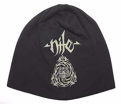 fa3d81aa19f BEANIE HAT PRINTED nile Logo Skull Cap official music band -  19.99 ...