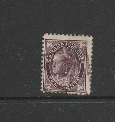 canada 1897/8 Victoria wth 4 leaves 10c Used SG 149, top value