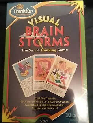 NEW SEALED VISUAL Brain Storms The Smart Thinking Game Free Shipping
